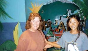 Kathy with guest baby teacher, Yoko Yagishita visiting from Tokyo, Japan.